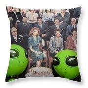 Alien Nostalgia Throw Pillow