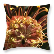 Alien Or Flower Throw Pillow