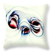 Alien Puppy Throw Pillow