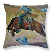 Alien Roundup Throw Pillow