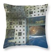 Alien Sea By Kc Throw Pillow