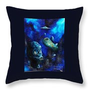 Alien Space Hideout Throw Pillow by Murphy Elliott
