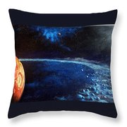 Alien Storm Throw Pillow