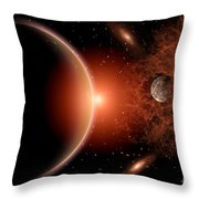 Alien Sunrise On A Distant Alien World Throw Pillow
