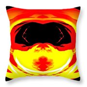 Alien Visitor Throw Pillow