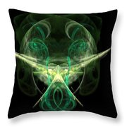 Alien With A Beard And Mustache Throw Pillow