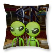 Aliens And Whatamacallit Throw Pillow