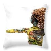 Alight A Sculpture By Adam Long Throw Pillow