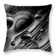 Alignment Of The Planets Bw Throw Pillow