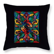 Alignment Throw Pillow by Teal Eye  Print Store