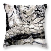 Alkyoneus - Detail No. 1 Throw Pillow