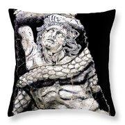 Alkyoneus Throw Pillow by Steve Bogdanoff
