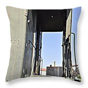 All Aboard From The Series View Of An Old Railroad Throw Pillow