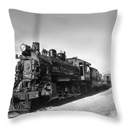 All Aboard Throw Pillow by Robert Bales