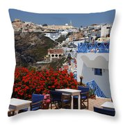 All About The Greek Lifestyle Throw Pillow