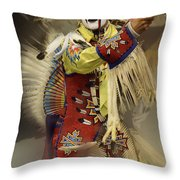 Pow Wow All About Time Throw Pillow