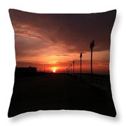 All Along The Boardwalk Throw Pillow