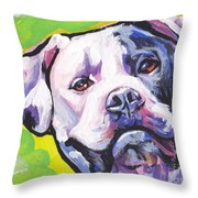 All American Bully Throw Pillow