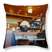 All American Diner 4 Throw Pillow