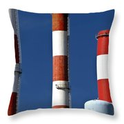 All American Industry Throw Pillow