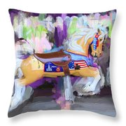All American Pony Throw Pillow