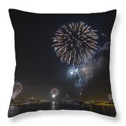 All At Once San Diego Fireworks Throw Pillow
