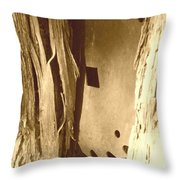 All Caught Up Sepia Throw Pillow