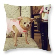 All Dressed Up Throw Pillow by Laurie Search