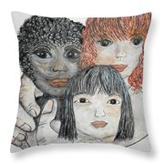 All God's Children Throw Pillow