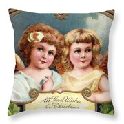 All Good Wishes For Christmas Throw Pillow