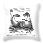All I'm Saying Is Now Is The Time To Develop  Throw Pillow by Frank Cotham