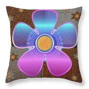All In With Colors Throw Pillow