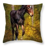 All Legs And Attitude Throw Pillow