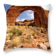 All Lined Up Throw Pillow