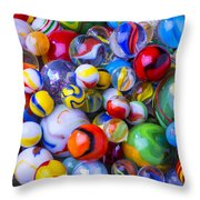All My Marbles Throw Pillow