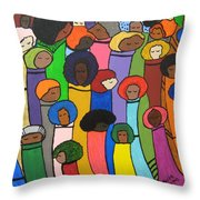 All Of Us Throw Pillow