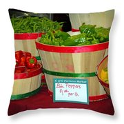 All Peppers Throw Pillow