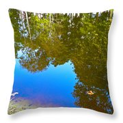 All Pond Treeflections Throw Pillow