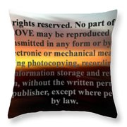 All Rights Reserved Throw Pillow
