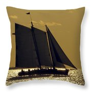 All Sails Sunset In Key West Throw Pillow