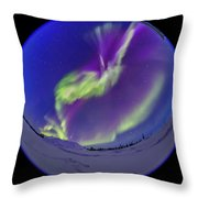 All-sky Aurora In The Twilight Throw Pillow