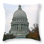All Streets Lead To The Capital Throw Pillow