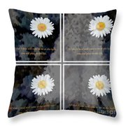 All That I Need Will Come To Me With Overlay Throw Pillow