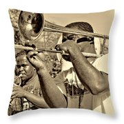 All That Jazz Sepia Throw Pillow