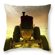All The Feilds She Plowed Throw Pillow
