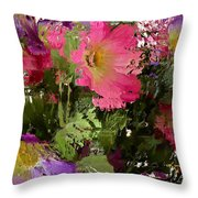 All The Flower Petals In This World 3 Throw Pillow