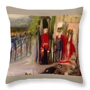 All The Kings Horses Throw Pillow