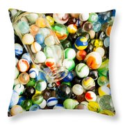 All The Marbles Throw Pillow by Edward Fielding
