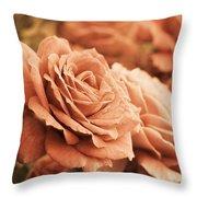 All The Orange Roses Throw Pillow
