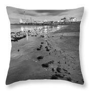 All The Roads Lead To The Pleasure Pier Throw Pillow